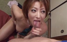 Worshipped older Reiko Kagami with great milk shakes is doing her routine that was modified to satisfy all her needs