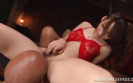 Extraordinary playgirl Claire Hasumi got thoroughly fucked until she started moaning from enjoyment