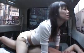 Amazing Natsumi Horiguchi picks up a boyfriend and sucks his huge slim jim