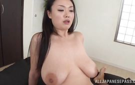 Raunchy breasty mature diva Nachi Kurosawa is getting banged from the back like never previous to