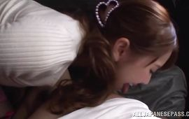 Impure older maiden Yui Hatano with round tits sitting on a dinky getting fucked