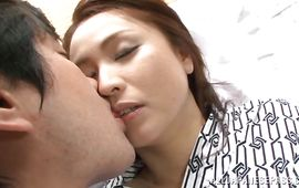 Tempting mature Yurie Matsushima is screaming from enjoyment while stranger is fucking her from the back