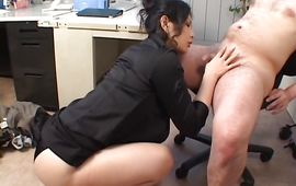 Horny bosomed minx Chinami Sakai loves sucking a fat cock