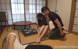 Seductive Yuri Shirai and fella are having wild sex all day long