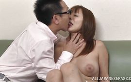 Fresh big boobed mature Tsubasa Arai receives a meat member in her tunnel of love