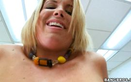 Overwhelming blond cutie Charlee Parker asks her lad to poke her vagina hard