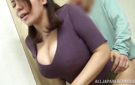 Stud and marvelous cutie with massive tits are recording each other fucking and sucking