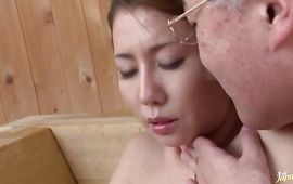 Lovable big titted mature girlfriend Sakiko Mihara is devouring a rock hard cock like a pro and enjoying it a lot