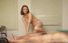 Sexually excited mature perfection Mitsuki Asuka with biggest tits enjoys riding a pulsating and hard beef bayonet