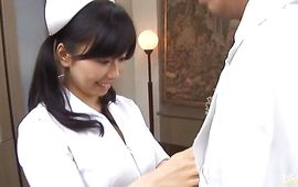 Sinful bosomed mature Hina Hanami impales her juicy fanny on hard shlong
