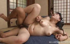 Overwhelming chick Name Koitoka receives a large shlong in her tight cooter