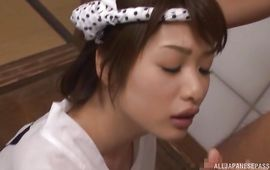 Savory mature bombshell Nanami Kawakami can't live without to be fucked in her moist cunny by stud