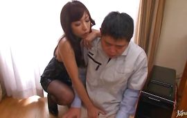 Lovely big titted Mika Kayama fucked and it kind of hurts