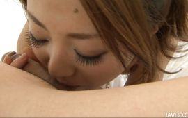 Sex appeal Yuu Shiraishi is completely ready to have sex with playmate she likes