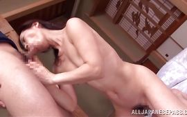 Swingeing mature Mika Matsushita pleasures her boy-friend