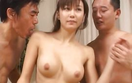 Staggering big boobed Yui Seto rides the shaft
