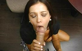 Fleshly angel Francesca Le is getting her sissy licked and stuffed with a hard python