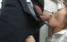 Appealing hottie Ruri Saijo with large tits opened her legs for a boyfriend she fell in love with