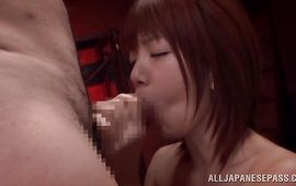 Overwhelming older Mayu Nozomi bounces on hard wood
