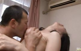 Heavenly bosomed Michiru Sakura is having sex with a chap from her entourage