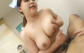 Luxurious mature Momoko with large tits gets plowed by her gracious stranger