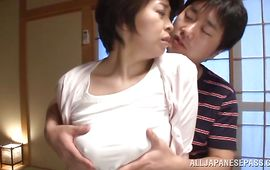 Lengthy inched boyfriend goes hardcore on a startling girlie Chiaki Takeshita