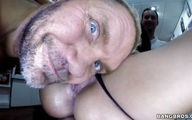 Delightful mature Franceska Jaimes is moaning while getting fucked coz it feels better than she could imagine