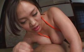 Alluring mature Yuki Saegusa sucks a large one passionately