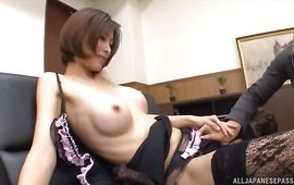 Astonishing mature Akari Asahina is in unfathomable love with man's huge d