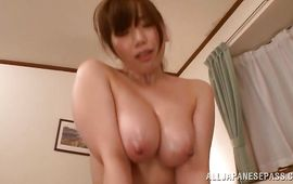 Aroused aged floosy Sayuki Kanno with biggest tits enjoys being destroyed hard and fast