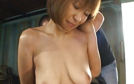 Fascinating milf Jun Kusanagi with massive tits rides fellow's cum gun