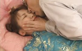Brutal mate helps passionate bosomed Meguru Kosaka to stretch her cuch