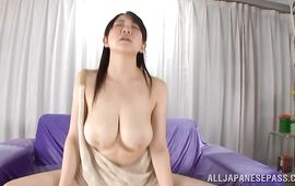 Captivating Nanami Horikita with curvy tits loves getting her soaking wet cunt plowed deeply