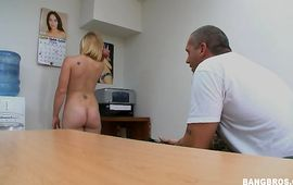 Sexy mature blond Rachel is cheating on with boy every once in a while