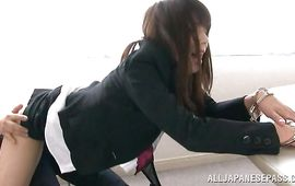 Hot-tempered mature lady Kimika Ichijou receives an intense doggystyle pounding