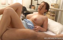 Glorious mature Mako Oda with impressive tits got fucked in a doggystyle position