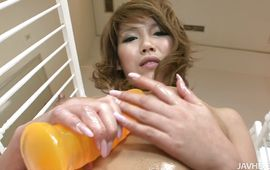 Aroused big titted lady Akiho Nishimura loves to be banged rough and hard