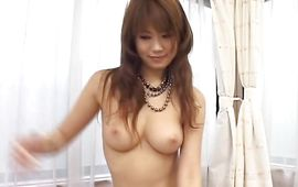 Gorgeous breasty mature Runa Sesaki is gently squeezing her milk jugs around fuckmate's fuck stick