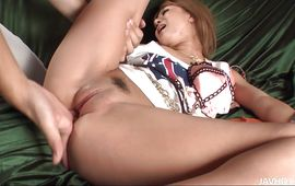 Dissolute bosomed mature Kokoa Ayane is sucking a big hard rod and listening to fucker's loud moans