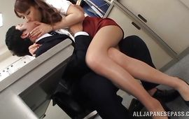 Alluring mature Riho Hasegawa shows her juicy couple of tits