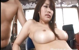 Aphrodisiac big titted mature Kirara Kurokawa is often having steamy sex with a man and eating his cum in the end