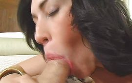 Bewitching latina gf Vanessa James gladly takes a hard boner in her cunt