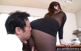 Spicy bosomed minx Sayuki Kanno could feel fucker's hardness inside her wet cuch