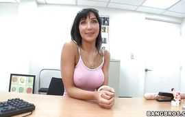 Fresh brunette mature Diana Prince is always doing her most good to satisfy hunk who is paying her good