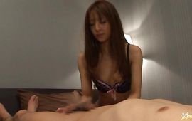 Overwhelming mature Manami Suzuki bows over and gets hunk's brown meat member doggystyle