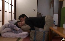 Admirable busty mature chick Azusa Nagasawa gives her fellow a oral pleasure
