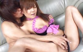 Astonishing maid Tomomi Takahara is ready for some hardcore fuck fest