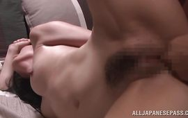 Wanton gf Chisayo Nanami meets a stranger and just now craves to fuck him