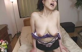 Passionate big titted bombshell Kyoko Misaki is secretly having sex with stud