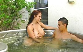 Appealing brown-haired gal Gianna Michaels got a nice caress from stranger and then they had sex